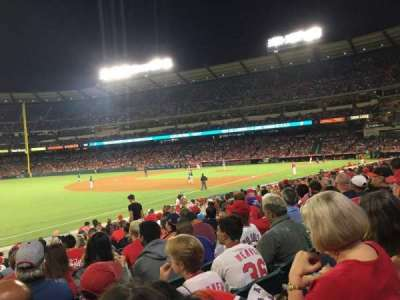 Angel Stadium, section: F107, row: R, seat: 8