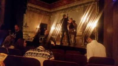 Booth Theatre, section: Orchestra, row: D, seat: 12