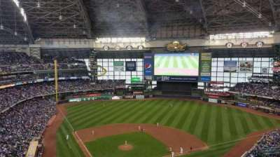 Miller Park, section: 419, row: 18, seat: 8