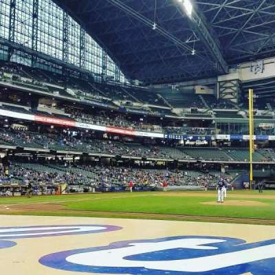 Miller Park, section: 113, row: 4, seat: 6
