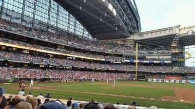 Miller Park, section: 113, row: 12, seat: 19