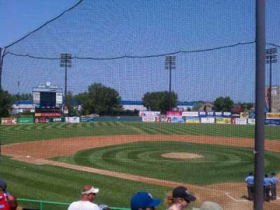 Midway Stadium, section: E, row: HH, seat: 12