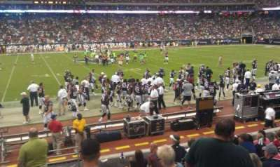 NRG Stadium, section: 107, row: H, seat: 21