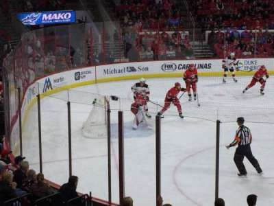PNC Arena, section: 108, row: Q, seat: 1