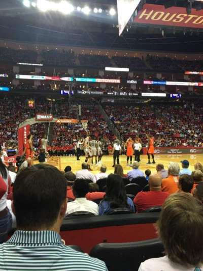 Toyota Center, section: 108, row: 3, seat: 15