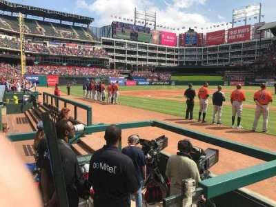 Globe Life Park in Arlington, section: VIP 21, row: 1, seat: 1