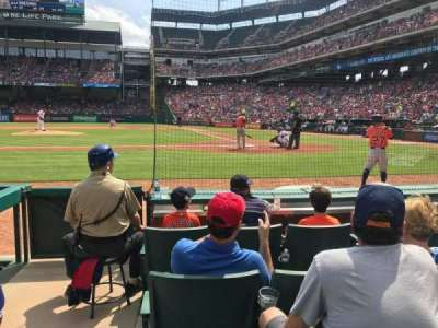 Globe Life Park in Arlington, section: 21, row: 1, seat: 1