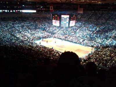 Madison Square Garden, section: 419, row: D, seat: 7