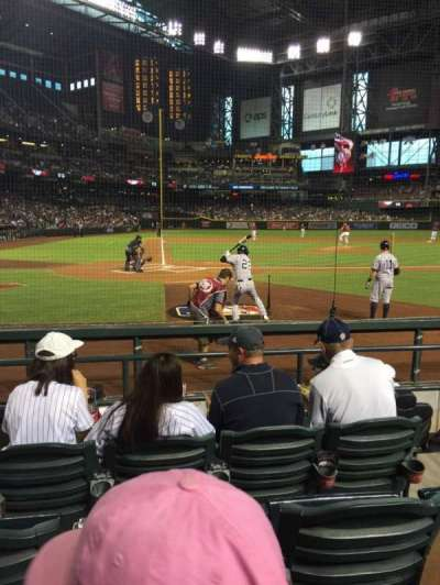 Chase Field, section: H, row: E, seat: 5