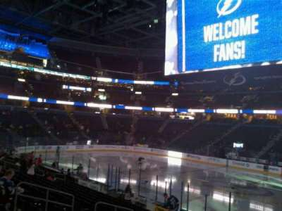 Amalie Arena section 115