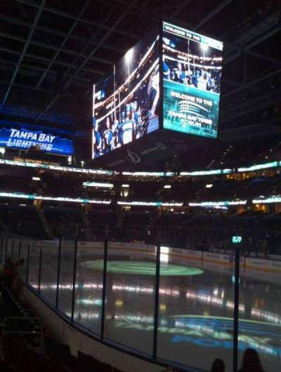 Amalie Arena, section: 112, row: H, seat: 7