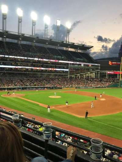 Progressive Field, section: 334, row: B, seat: 1