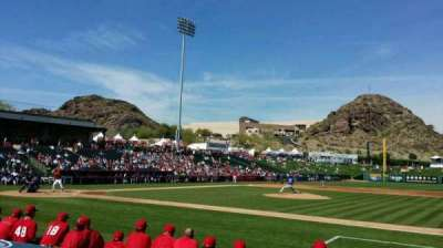Tempe Diablo Stadium, section: 17, row: F, seat: 11