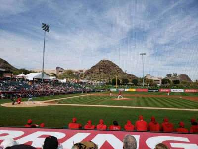 Tempe Diablo Stadium, section: 16, row: H, seat: 7