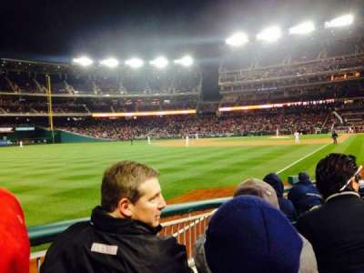 Nationals Park, section: 109, row: M, seat: 9