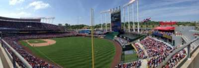 Kauffman Stadium, section: 439, row: A, seat: 8