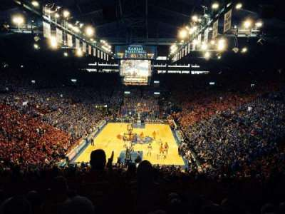 Allen Fieldhouse, section: 22, row: 22, seat: 16