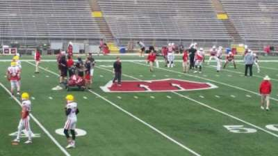 Camp Randall Stadium, section: u, row: 20, seat: 14