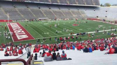 Camp Randall Stadium, section: w, row: 57, seat: 36