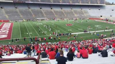 Camp Randall Stadium, section: v, row: 57, seat: 36