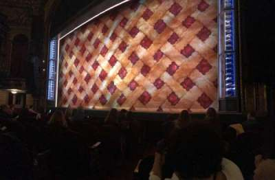 Brooks Atkinson Theatre, section: Orchestra, row: D, seat: 4