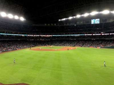 Minute Maid Park, section: 255, row: 1, seat: 18
