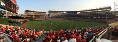 Nationals Park, section: Red Porch, row: 1