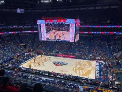 Smoothie King Center, section: 331, row: 4, seat: 3
