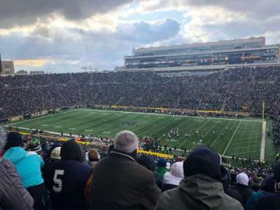 Notre Dame Stadium, section: 107, row: 25, seat: 16