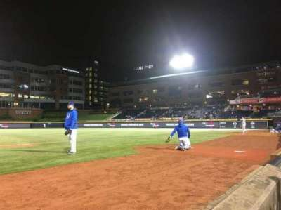 Durham Bulls Athletic Park, section: 114, row: A, seat: 7 and 8