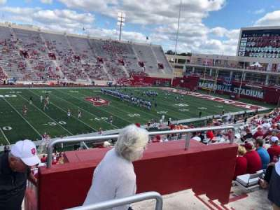Memorial Stadium (Indiana), section: 9, row: 41, seat: 103