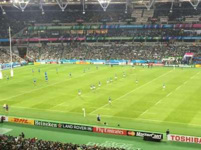 London Stadium, section: 238, row: 54, seat: 355