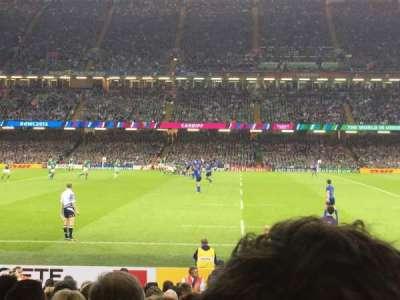 Principality Stadium, section: L10, row: 17, seat: 24