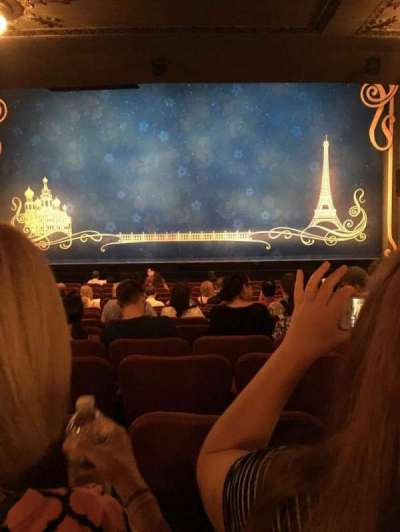 Broadhurst Theatre, section: Orchestra, row: P, seat: 111