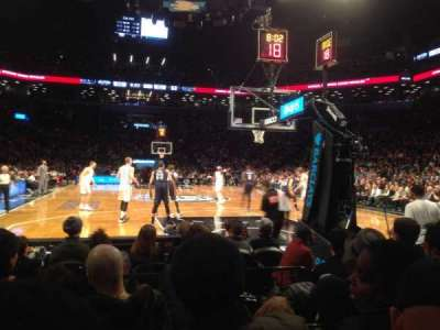 Barclays Center, section: 1, row: E, seat: 8