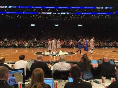 Barclays Center, section: 8, row: 1, seat: 10