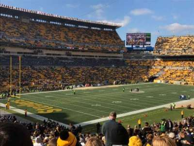 Heinz Field, section: 104, row: KK, seat: 5