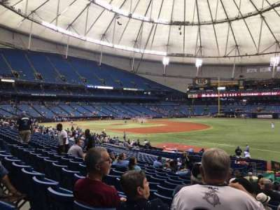 Tropicana Field, section: 130, row: BB, seat: 18