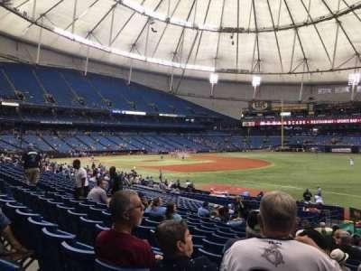 Tropicana Field, section: 130, row: BB, seat: 18
