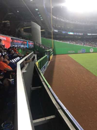 Marlins Park, section: 36, row: A, seat: 1