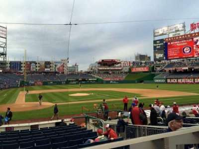 Nationals Park, section: 126, row: A, seat: 1/2