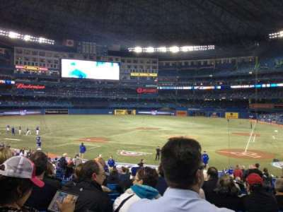 Rogers Centre, section: 124L, row: 32, seat: 105