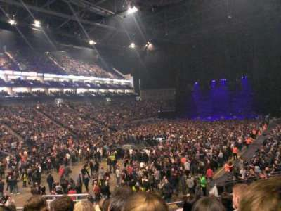 The O2 Arena, section: 108, row: U, seat: 250
