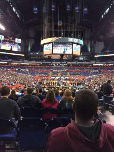 Lucas Oil Stadium, section: 101, row: U, seat: 2