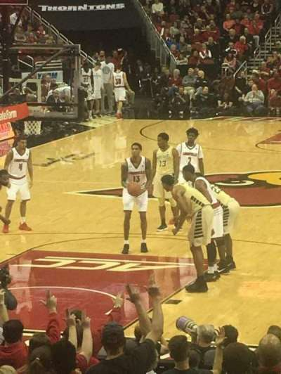 KFC Yum! Center, section: 110, row: S, seat: 12