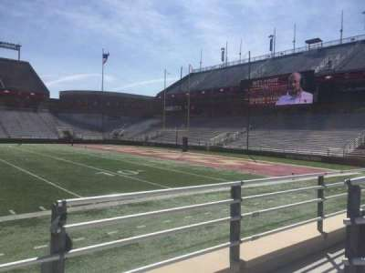 Alumni Stadium, section: E, row: 7