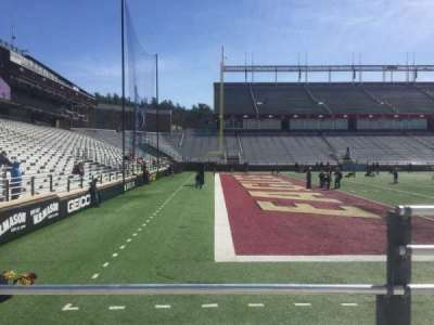 Alumni Stadium, section: A, row: 6, seat: 11