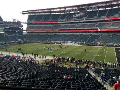 Lincoln Financial Field, section: LS8, row: 1, seat: 9