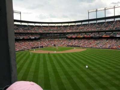 Oriole Park at Camden Yards section 92