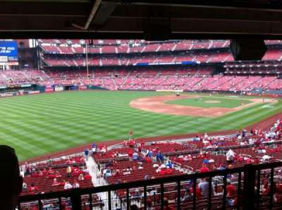 Busch Stadium, section: Champions Club 8, row: B, seat: 9
